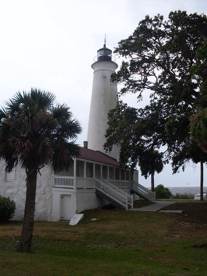 Lighthouse Photograph - St. Marks Lighthouse Before The Rain by Warren Thompson
