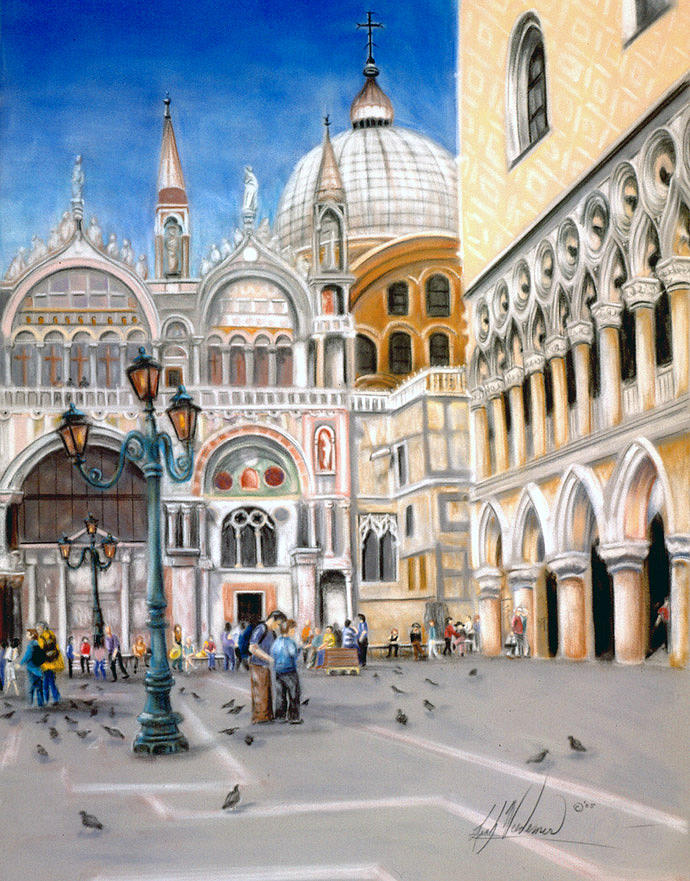 Venice Pastel - St. Marks Square by Leah Wiedemer