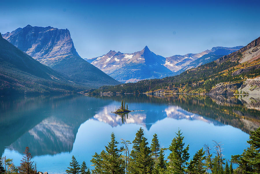 Lake Photograph - St Mary Lake by Bryan Spellman