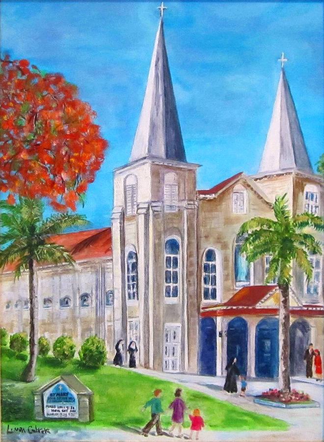 St. Mary's Catholic Church Key West by Linda Cabrera