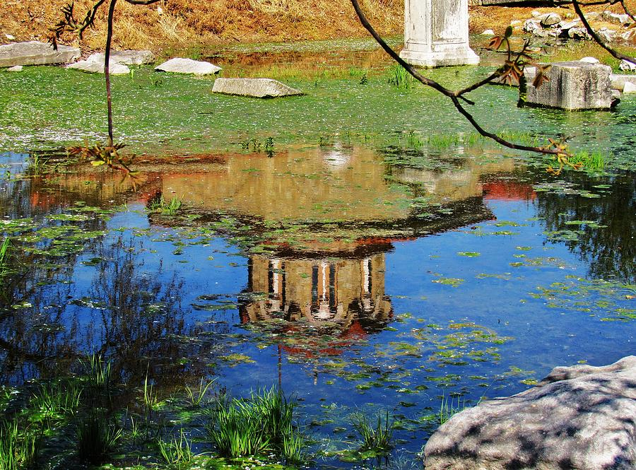Reflection Photograph - St. Marys Church Philipi, Greece by Barbara Ebeling