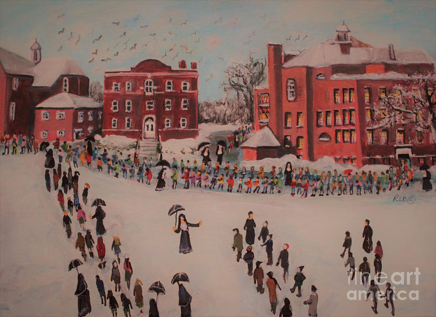 St. Mary's Church Painting - St Marys First Friday Mass by Rita Brown