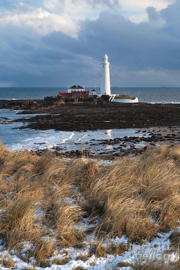 England Uk Photograph - St Marys Island Winter by Bryan Attewell