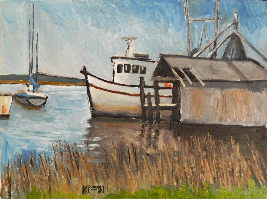 Boat Painting - St Marys Shrimp Boat  by Robert Holewinski