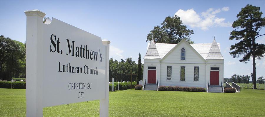 Creston Photograph - St. Matthews Lutheran Church by Rob Thompson