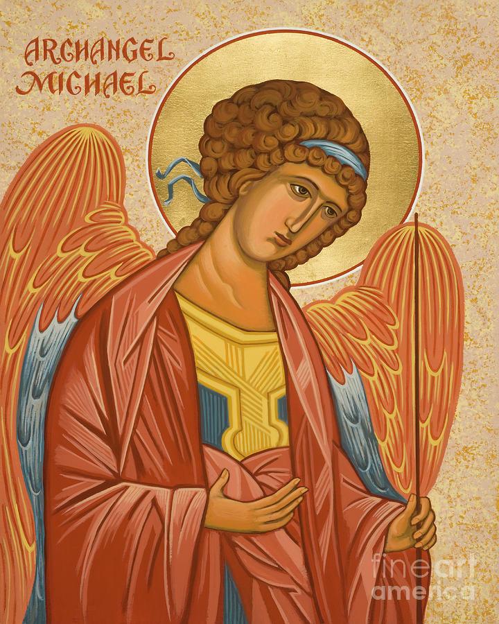 St. Michael Archangel Painting - St. Michael Archangel - Jcami by Joan Cole