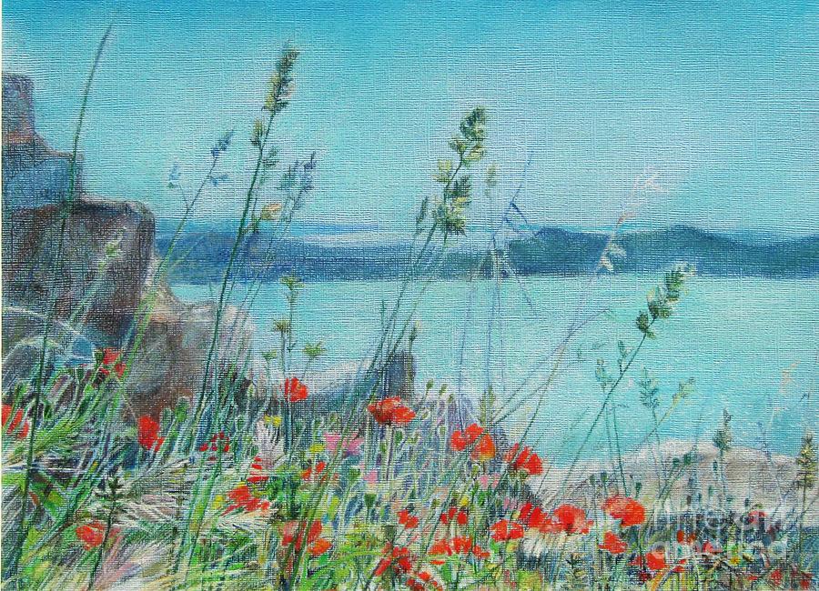Nature Painting - St. Michael Croatia by Radchenko Julia