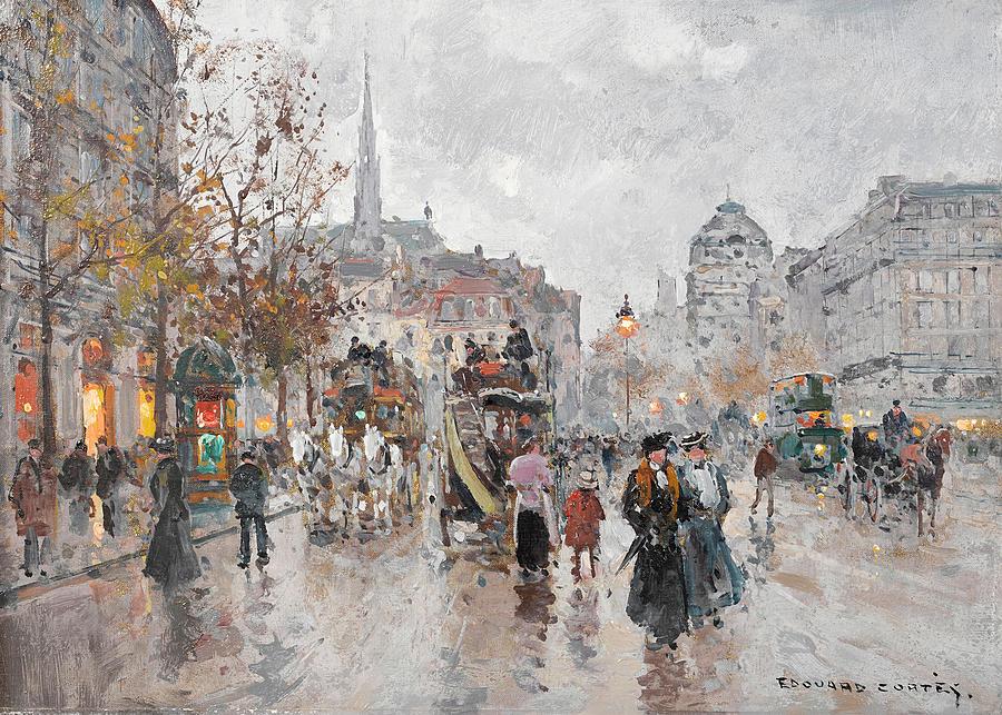 Square Painting - St. Michaels Square by Edouard Henri Leon Cortes