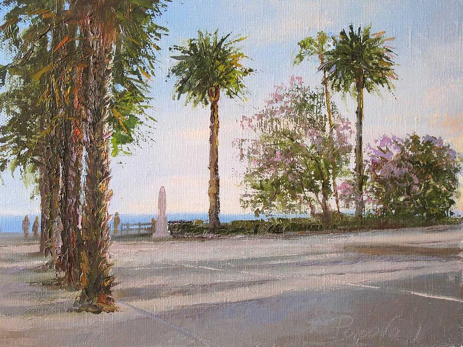 Landscape Painting - St. Monica by Irina Popova