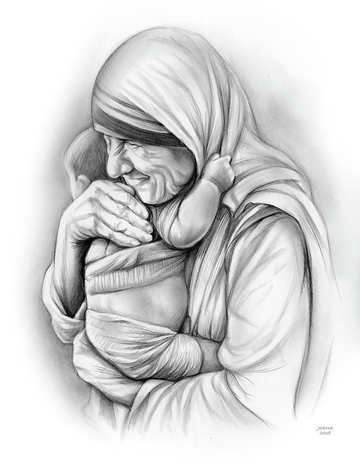 St Mother Teresa Drawing