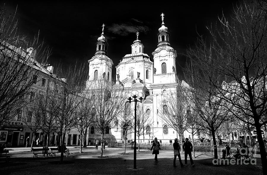 St. Nicholas Church Photograph - St. Nicholas Church Shadows by John Rizzuto
