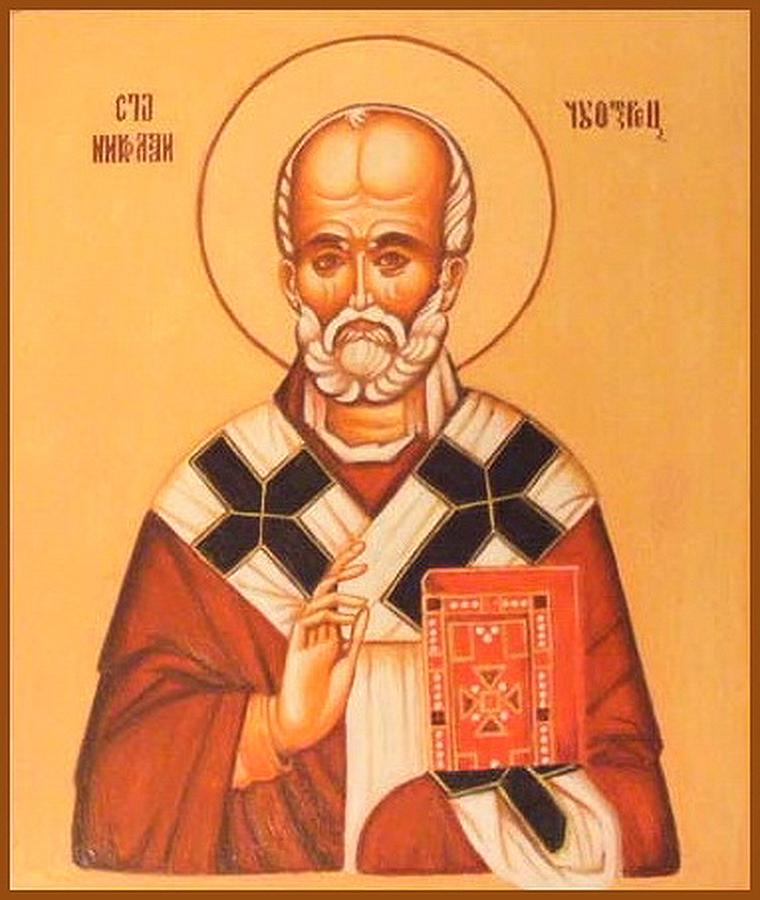 Serbian Painting - St. Nicholas by Jovica Kostic