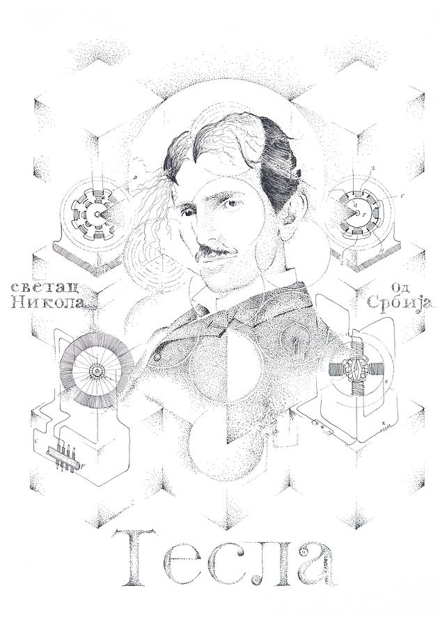 St. Nikola Tesla of Serbia Sombra de Arreguin by Doug Johnson