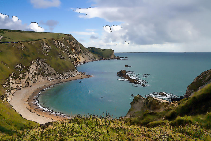 St Oswalds Bay And Dorset Coast Next To Durdle Door