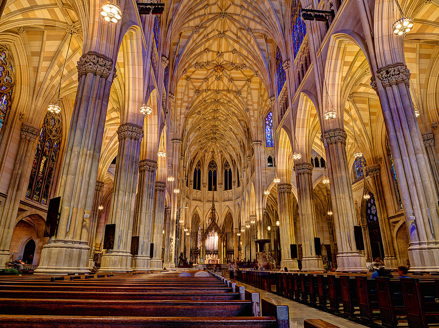 Church Photograph - St Patricks Cathedral by Michael Tischler