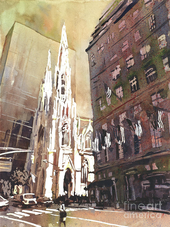 Christianity Painting - St Patricks Cathedral- New Yor City by Ryan Fox