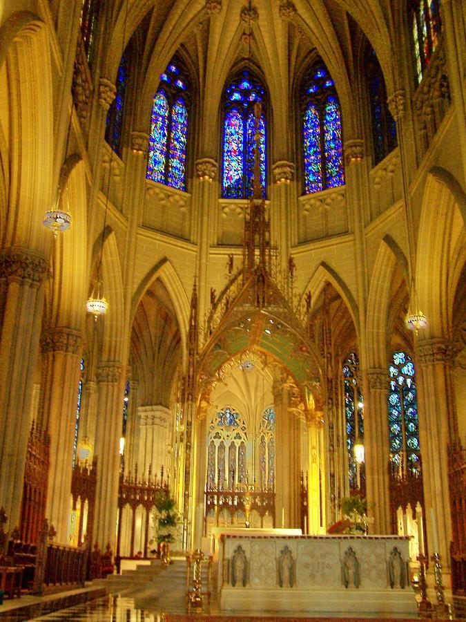 Saint Patrick Photograph - St Patricks Cathedral New York by Vijay Sharon Govender