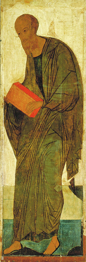 Andrei Rublev Painting - St Paul. From Deisus Tier by Andrei Rublev
