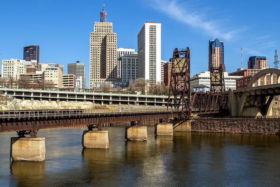 St. Paul Minnesota Bridges by Toni Thomas