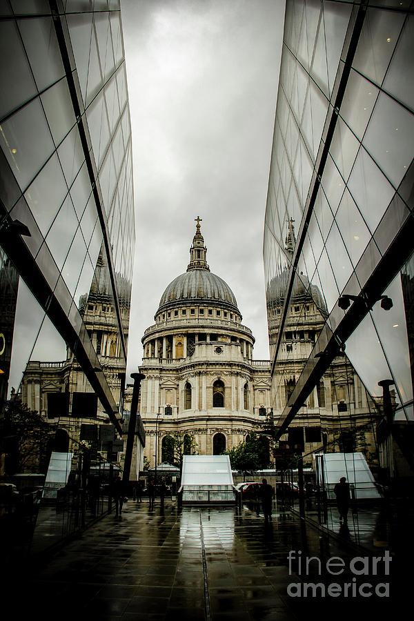 St. Paul's on a Foggy London Day by Marina McLain
