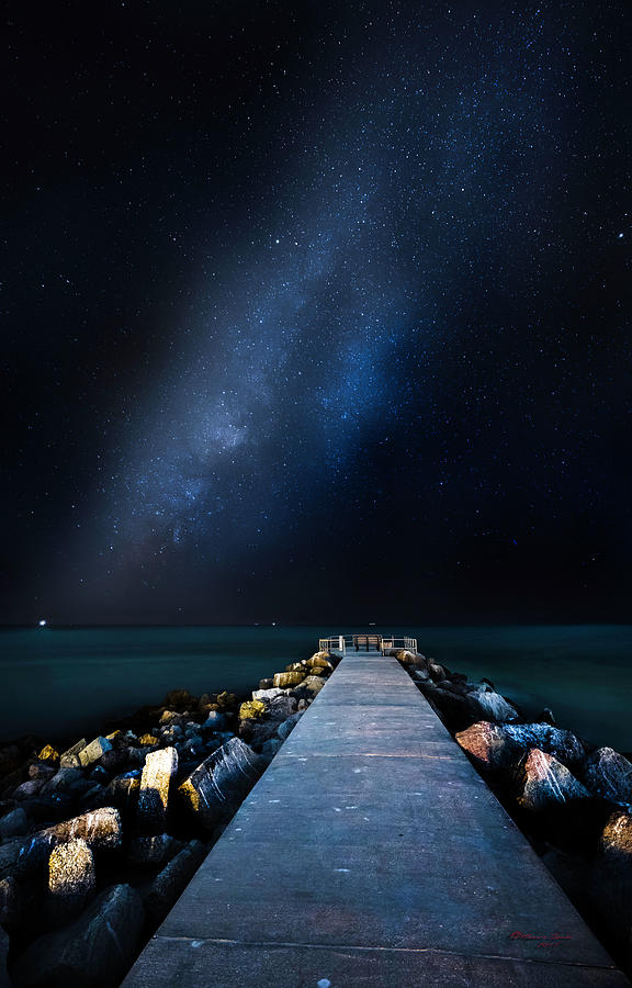 Galaxy Photograph - St. Pete Night by Marvin Spates