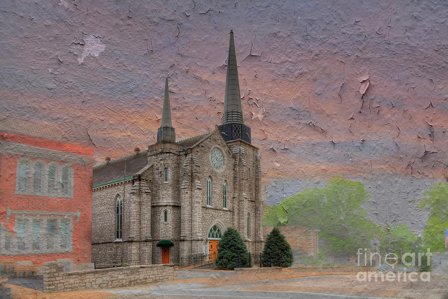 Hdr Digital Art - St Peter And Paul Catholic Church by Larry Braun