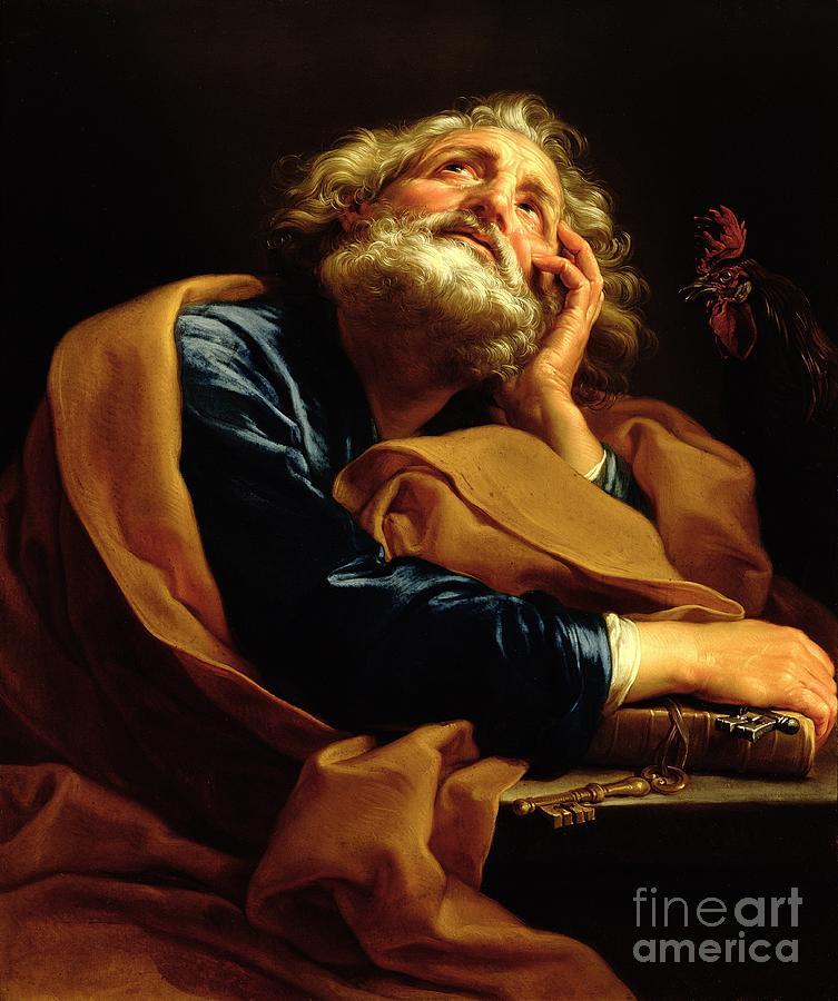 Peter Painting - St Peter by Pompeo Girolamo Batoni