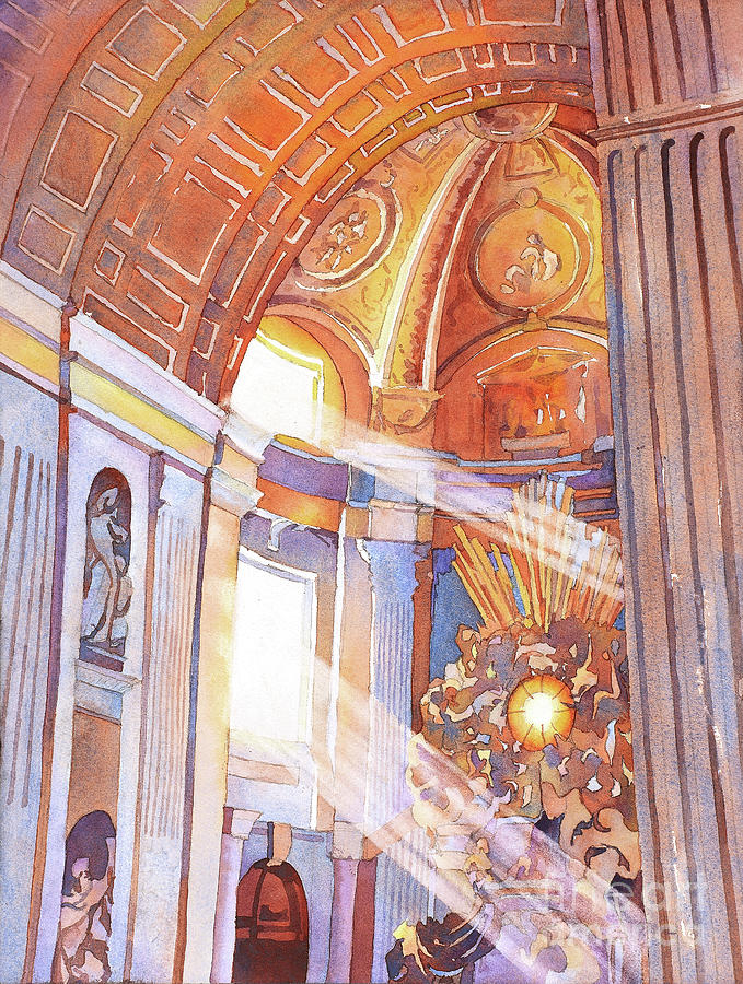 Christianity Painting - St. Peters Basilica by Ryan Fox