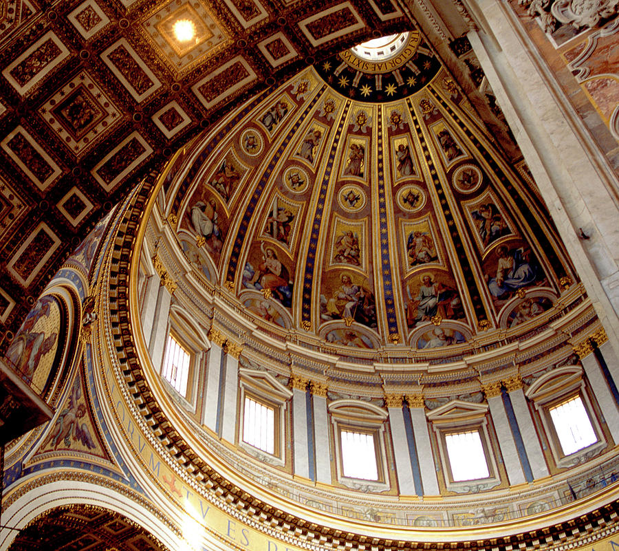 Rome Photograph - St Peters Looking Up by Martin Sugg
