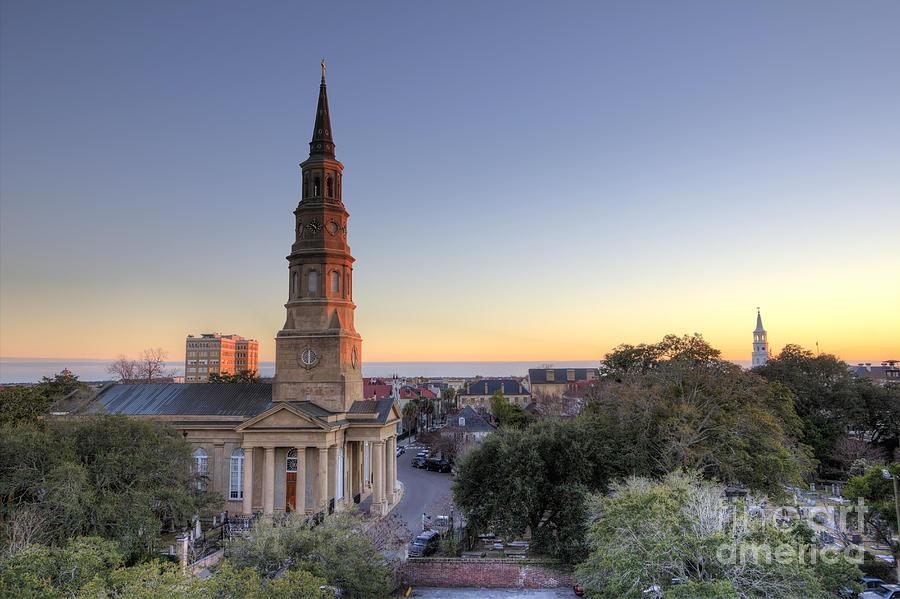 St Philips Church Charleston Sc Dusk
