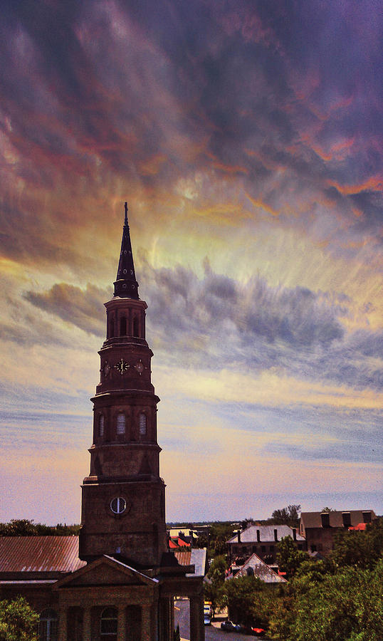 St. Philips sky in Charleston by E Karl Braun