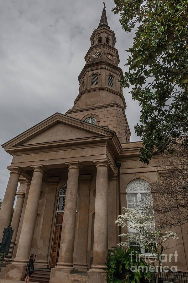 St. Phillips Church Bell Tower In Charleston South Carolina Photograph