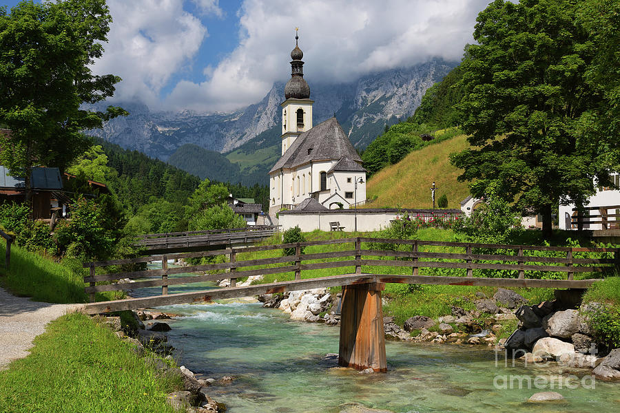 Ramsau Bei Berchtesgaden Photograph - St. Sebastian Church by Yair Karelic