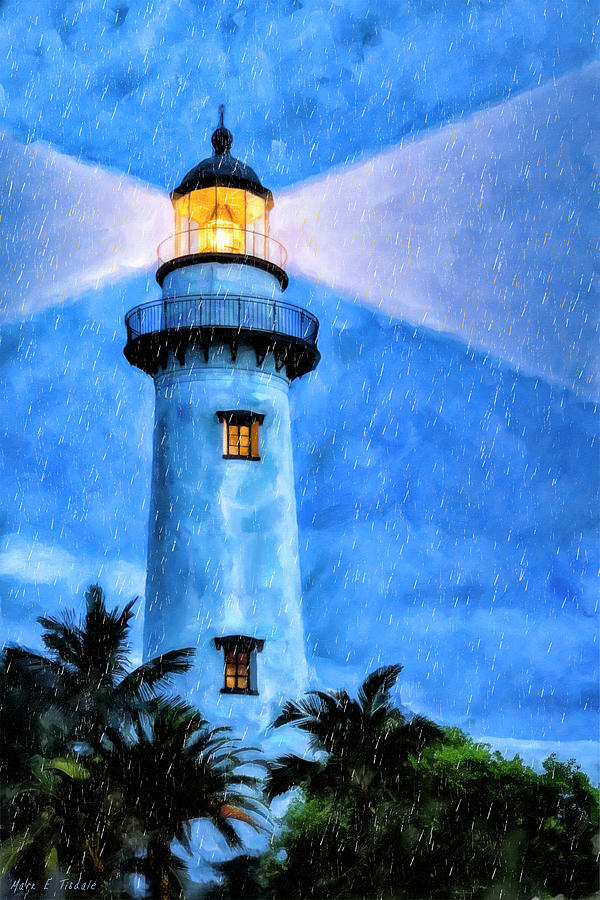 St Simons Island Painting - Lights On For You At St. Simons by Mark Tisdale