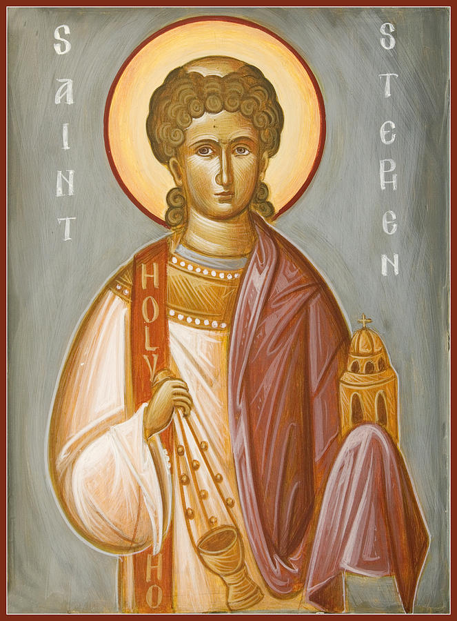St Stephen Painting - St Stephen II by Julia Bridget Hayes