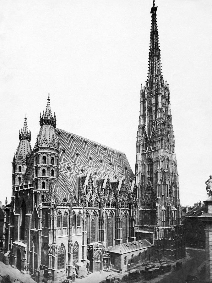 1890s Photograph - St. Stephens Cathedral by Underwood Archives