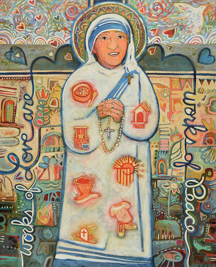 Mother Teresa Painting - St. Teresa Of Kolkata by Jen Norton