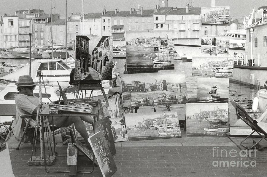 St. Tropez Photograph - St. Tropez Paintings by Andrea Simon