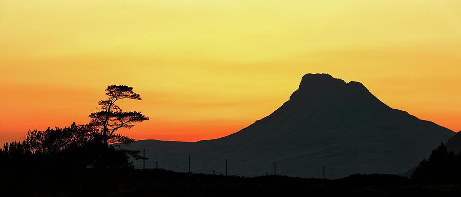 Sunset Photograph - Stac Polly Sunset by Grant Glendinning