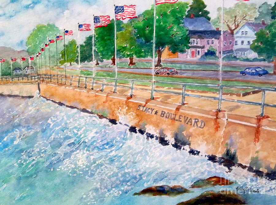 Gloucester Painting - Stacey Boulevard,gloucester, Ma by Kathryn G Roberts