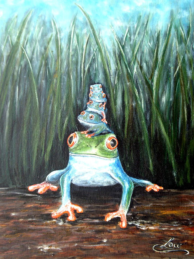 Frog Painting - Stacked by Chris Law