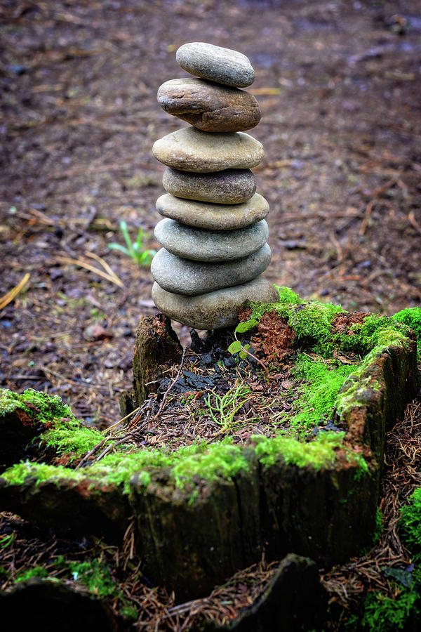 Stacked Stones And Fairy Tales II Photograph