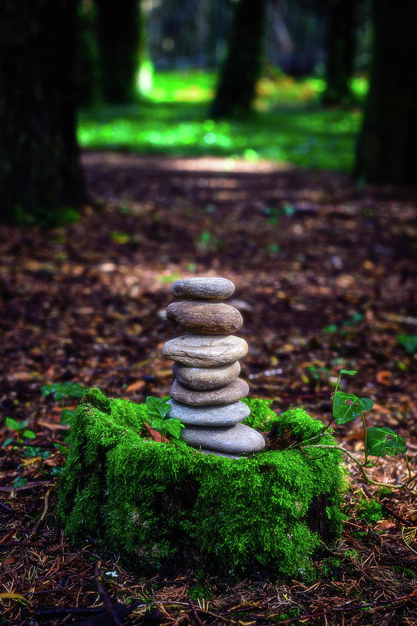 Stacked Stones And Fairy Tales Iv Photograph
