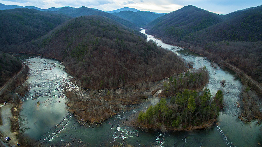 Stackhouse Bend On French Broad River by Ryan Phillips