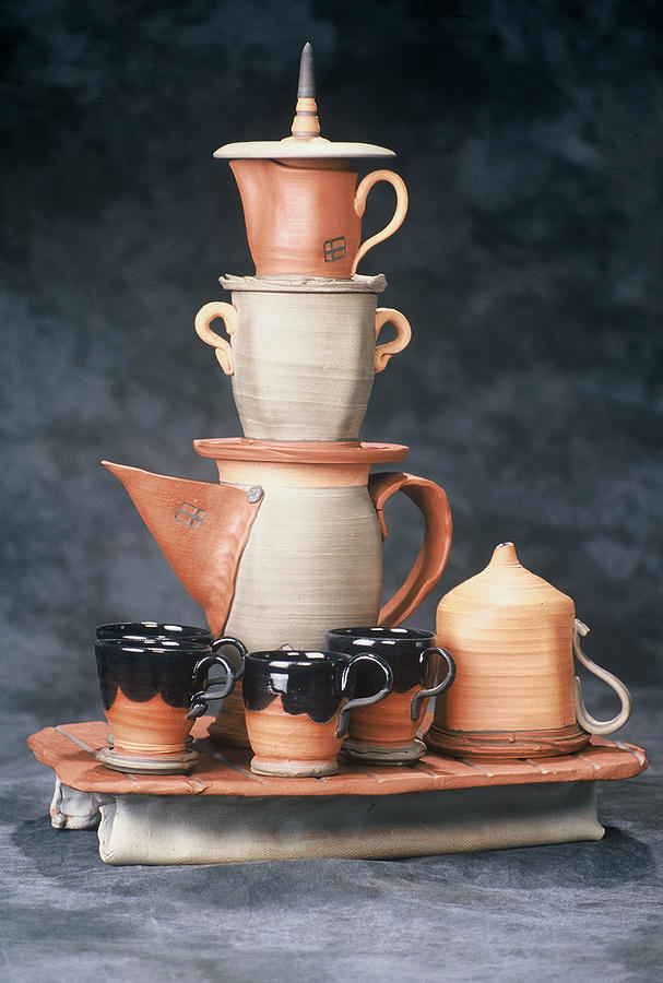 Stacking Coffee Service Ceramic Art by Kreg Owens