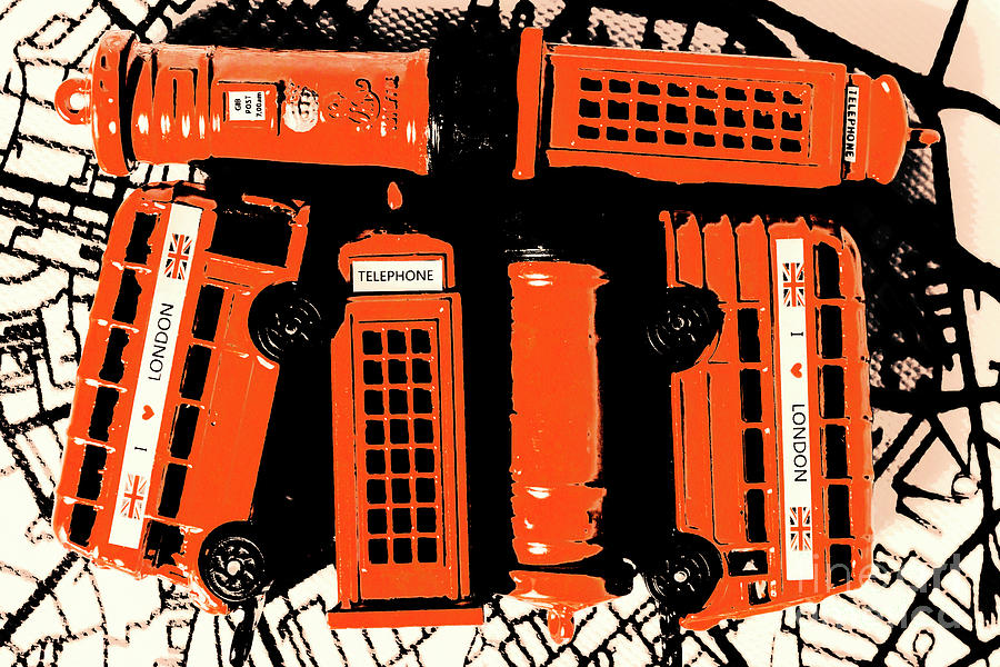 Retro Photograph - Stacking The Double Deckers by Jorgo Photography - Wall Art Gallery