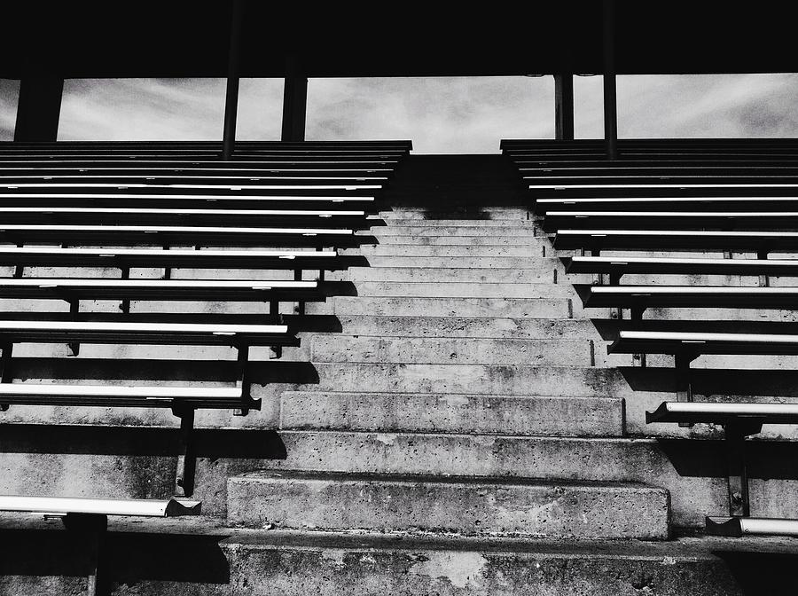 Stadium Photograph - Stadium Bleachers by Eddie G