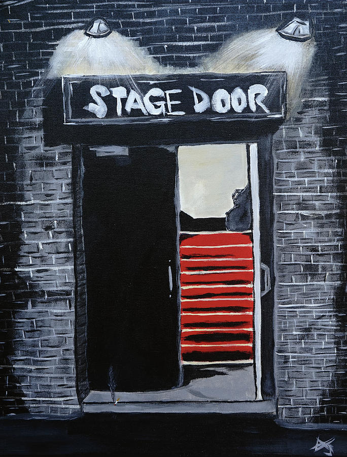 Entertainment Painting - Stage Door by Aj