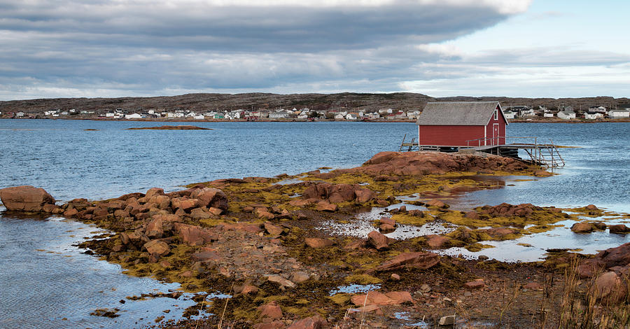 Stage in Tilting, Fogo Island by Crystal Fudge