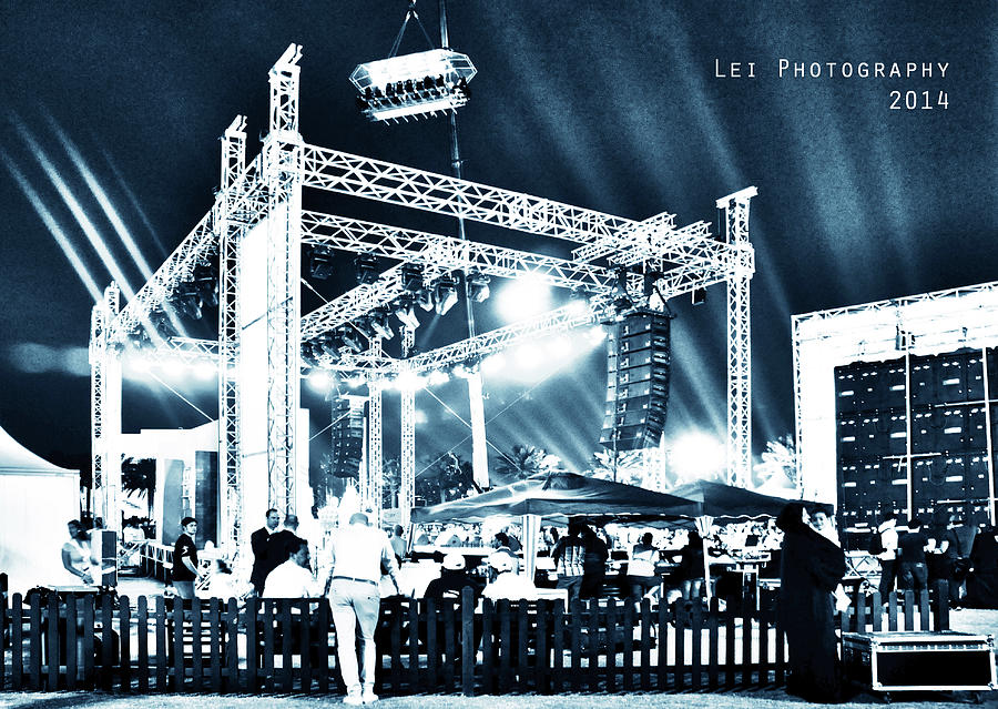 Lights Photograph - Stage Lights by Lei De Leon